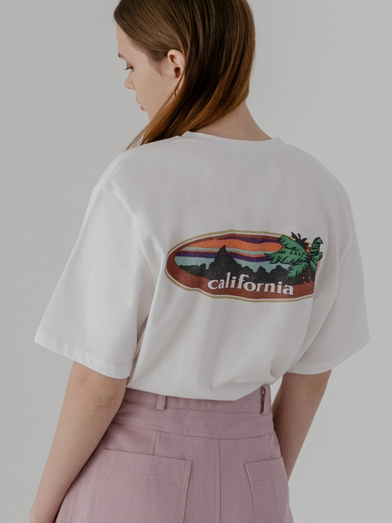 California painted t-shirts in white