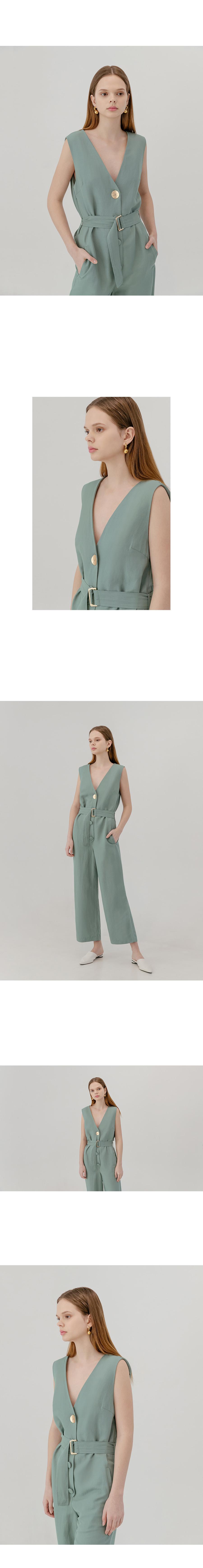 틸 아이 다이(TILL I DIE) Linen contrast button jump suit [mt]